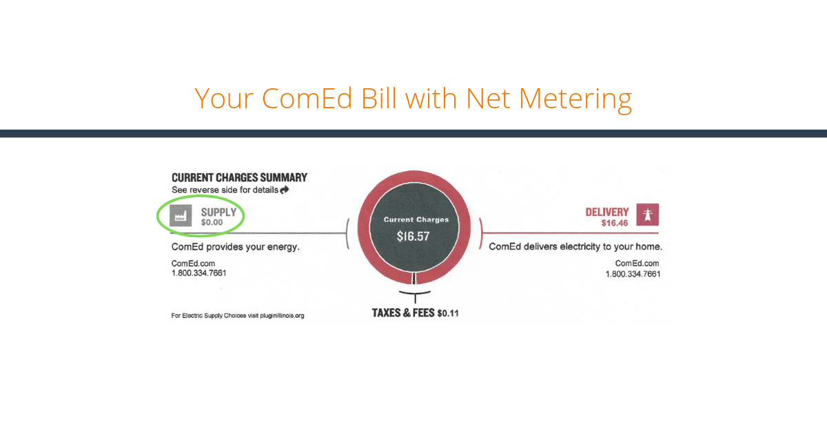 Your ComEd Bill with Net Metering Blog Title Image